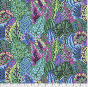 "Free Spirit Fabrics - Kaffe Fassett Collective ""Coleus in Turquoise"" by Phillip Jacobs"