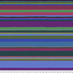 "Free Spirit Fabrics - Kaffe Fassett Collective ""Promenade Stripe in Cold"" by Kaffe Fassett"