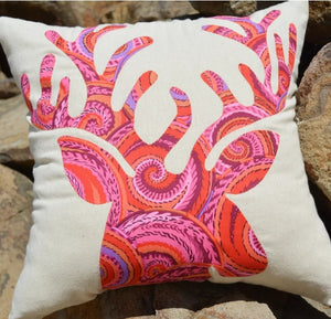 "Passionately Sewn ""My Deer Cushion"" Pattern by Janeene Scott"