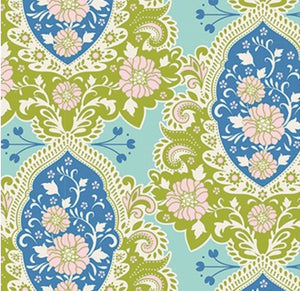 "Tilda ""Sunkiss - Charlotte in Blue"" Quilt Collection Fabric by Tone Finnanger"