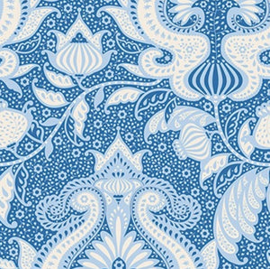 "Tilda ""Sunkiss - Ocean Flower in Blue"" Quilt Collection Fabric by Tone Finnanger"