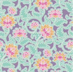 "Tilda ""Sunkiss - Suraj in Lilac"" Quilt Collection Fabric by Tone Finnanger"