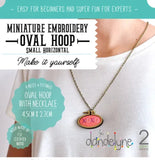 Dandelyne Small Horizontal Hoop with Necklace