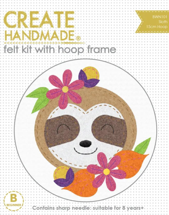 Create Handmade - Hoop Kit Sloth