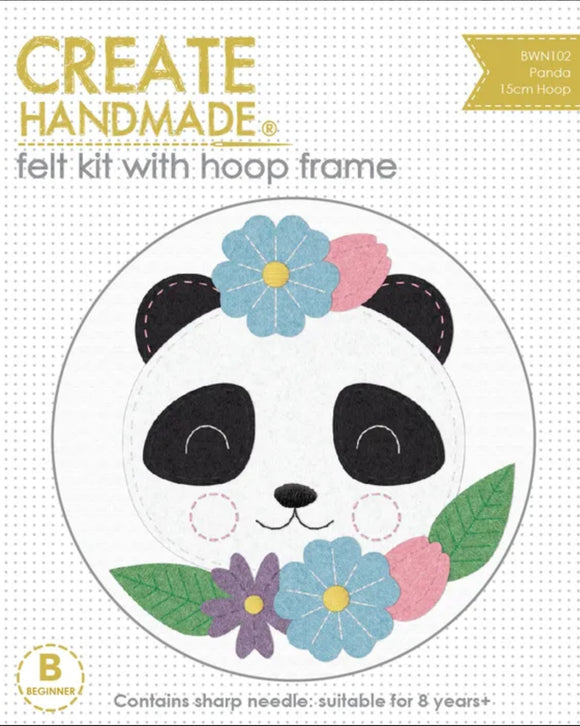 Create Handmade - Hoop Kit Panda