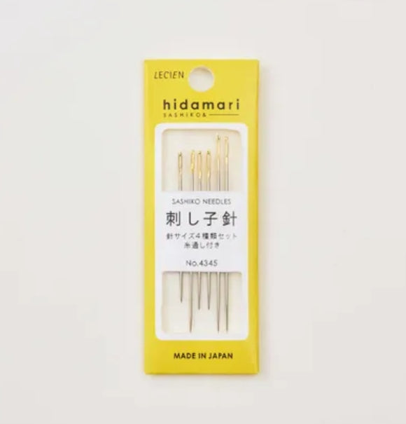 Lecien Hidimari Sashiko Needle Set for Hand Stitching Assorted Sizes
