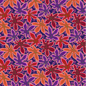 "Free Spirit Fabrics - Kaffe Fassett Collective ""Lacy Leaf in Red"" by Phillip Jacobs"