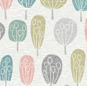 "Dashwood Studio ""Elements - Trees in Multi"" Fabric by JoJo Coco Design"