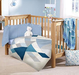 "Devonstone Collection in Collaboration with Robert Kaufman - ""Baby on Trend Cot Panel Fabric"" in Dove by Jemima Flendt from Tied With A Ribbon"