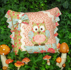 "The Rivendale Collection ""Betty Barn Owl"" Cushion Pattern by Sally Giblin"