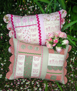"The Rivendale Collection ""Butterfly Kisses"" Cushion Pattern by Sally Giblin"