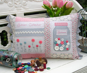 "The Rivendale Collection ""Button Collector"" Cushion Pattern by Sally Giblin"