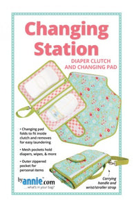 "By Annie ""Changing Station"" Diaper Clutch and Changing Pad Bag Pattern"