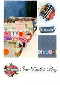 "Sew Demented ""Sew Together Bag"" Zippered Bag Pattern"