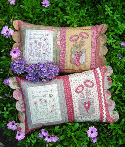 "The Rivendale Collection ""Flowers Are Friends"" Cushion Pattern by Sally Giblin"