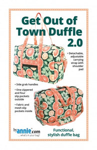 "By Annie ""Get Out of Town Duffle 2.0"" Bag Pattern"