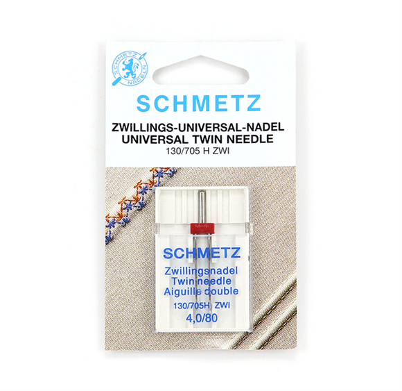 Schmetz Needles - Universal 130/705HZWI Twin Size 4.0/80 for Machine Stitching