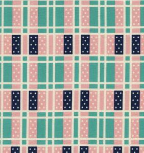 "Cotton+Steel Collection ""Lucky Strikes - Domino Plaid in Turquoise"" Fabric Designed by Kimberly Kight"