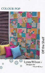 "Lynne Wilson designs ""Colour Pop"" Off the Shelf Quilt Pattern for Moda"