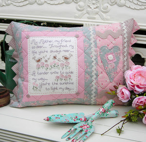 "The Rivendale Collection ""My Mother, My Friend"" Cushion Pattern by Sally Giblin"