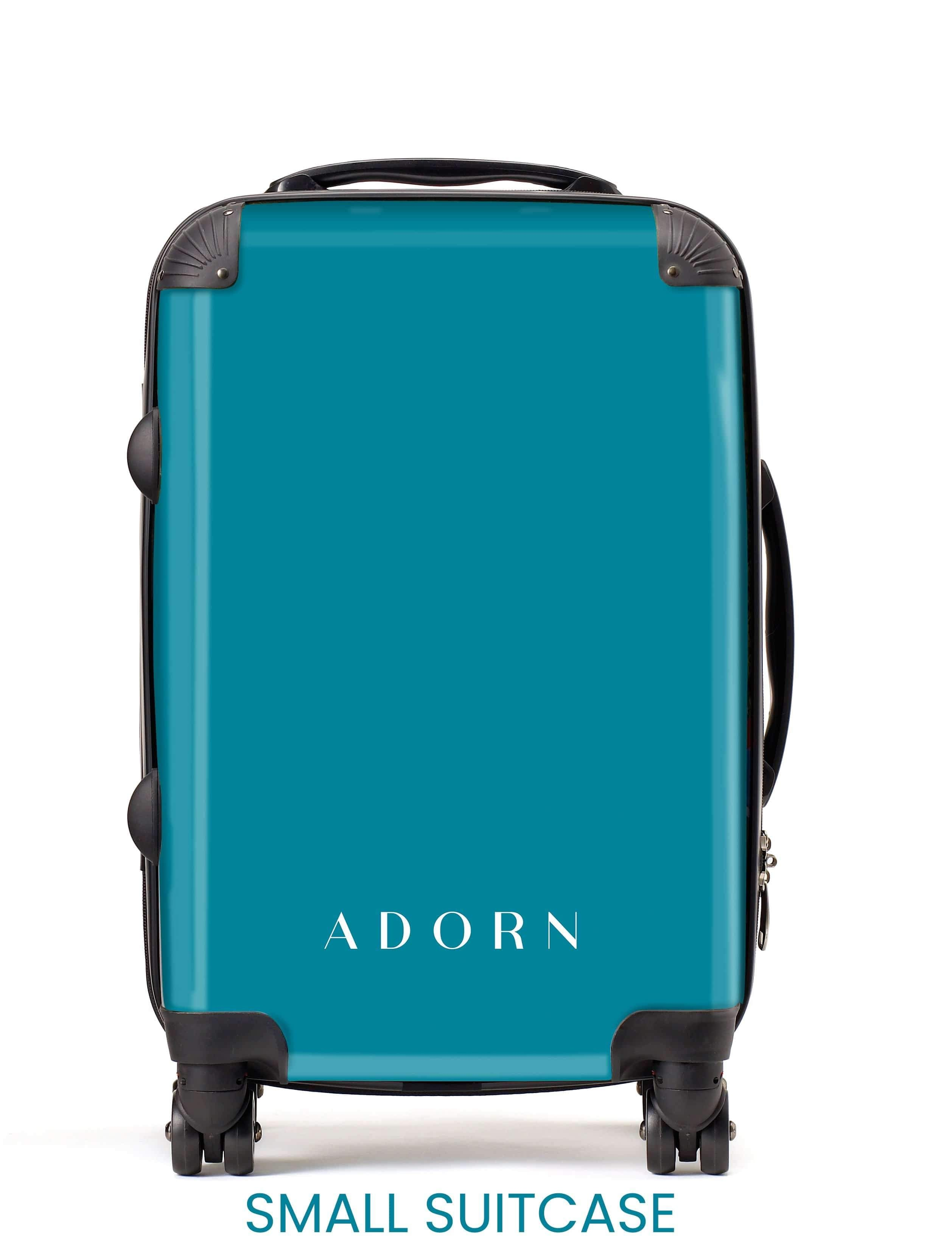 Adorn Blue Marble Luggage AA0060