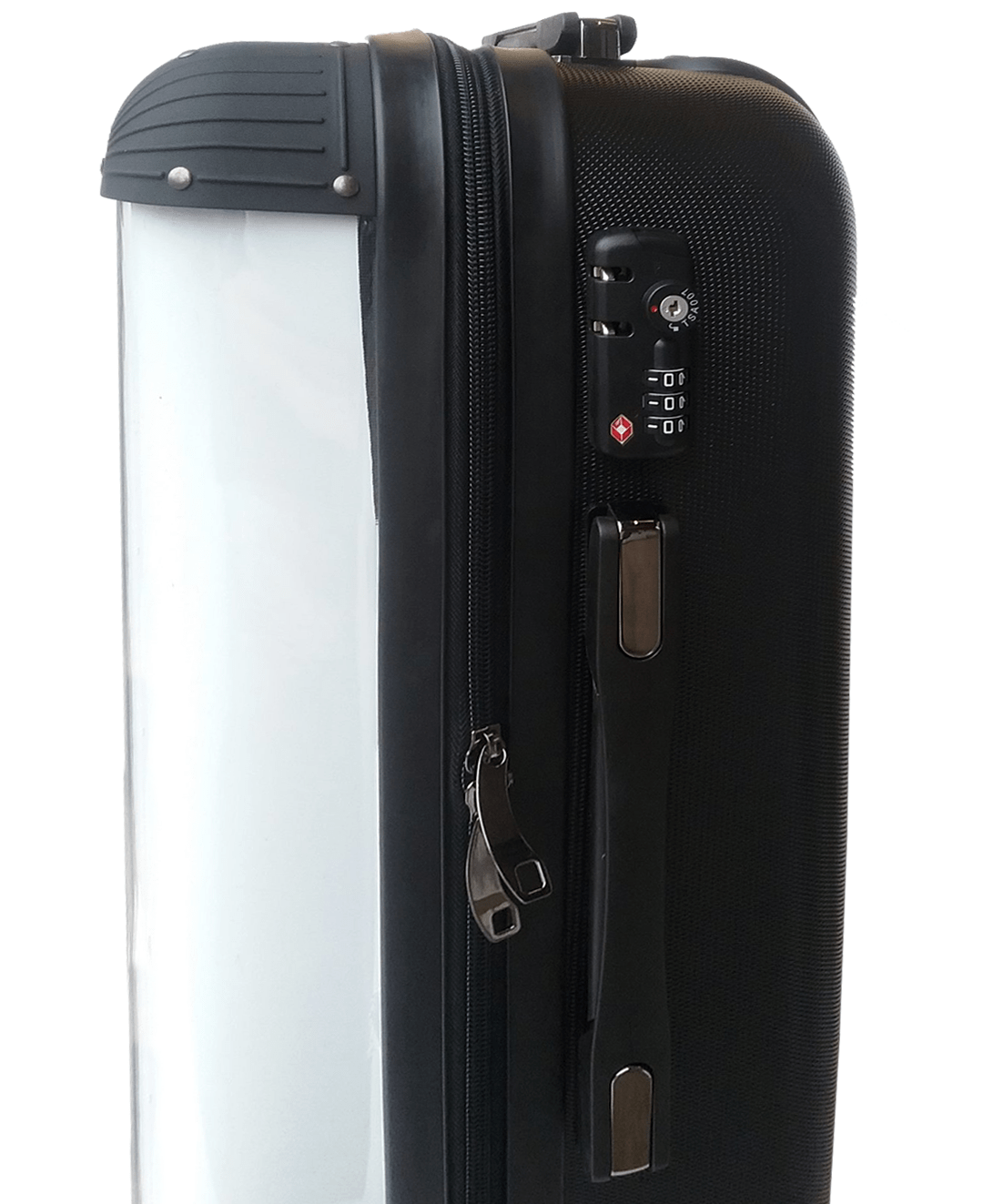 Adorn Grey Carbon Fibre Pattern Luggage AA0051
