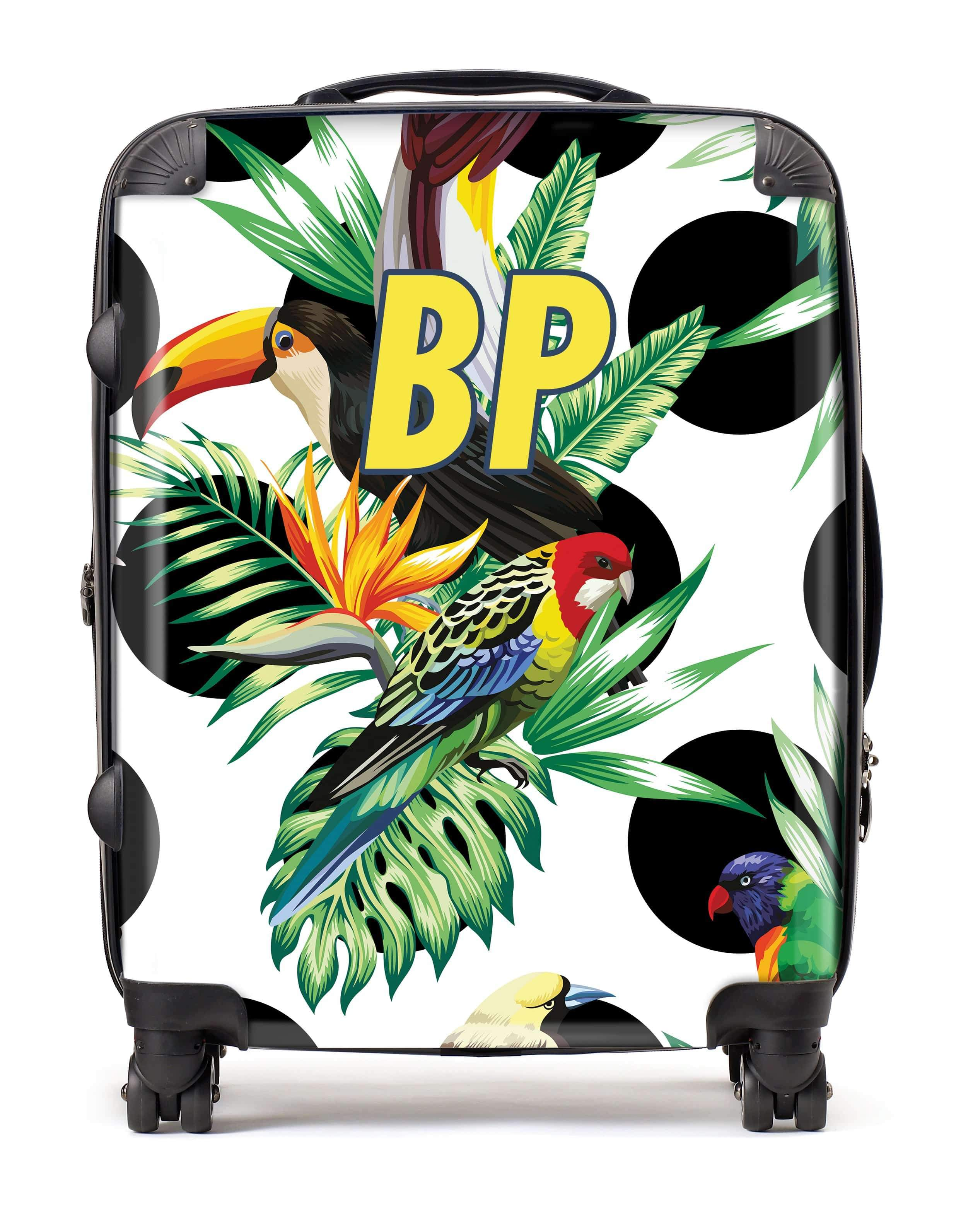 Adorn Jungle Birds Pattern Luggage AA0053