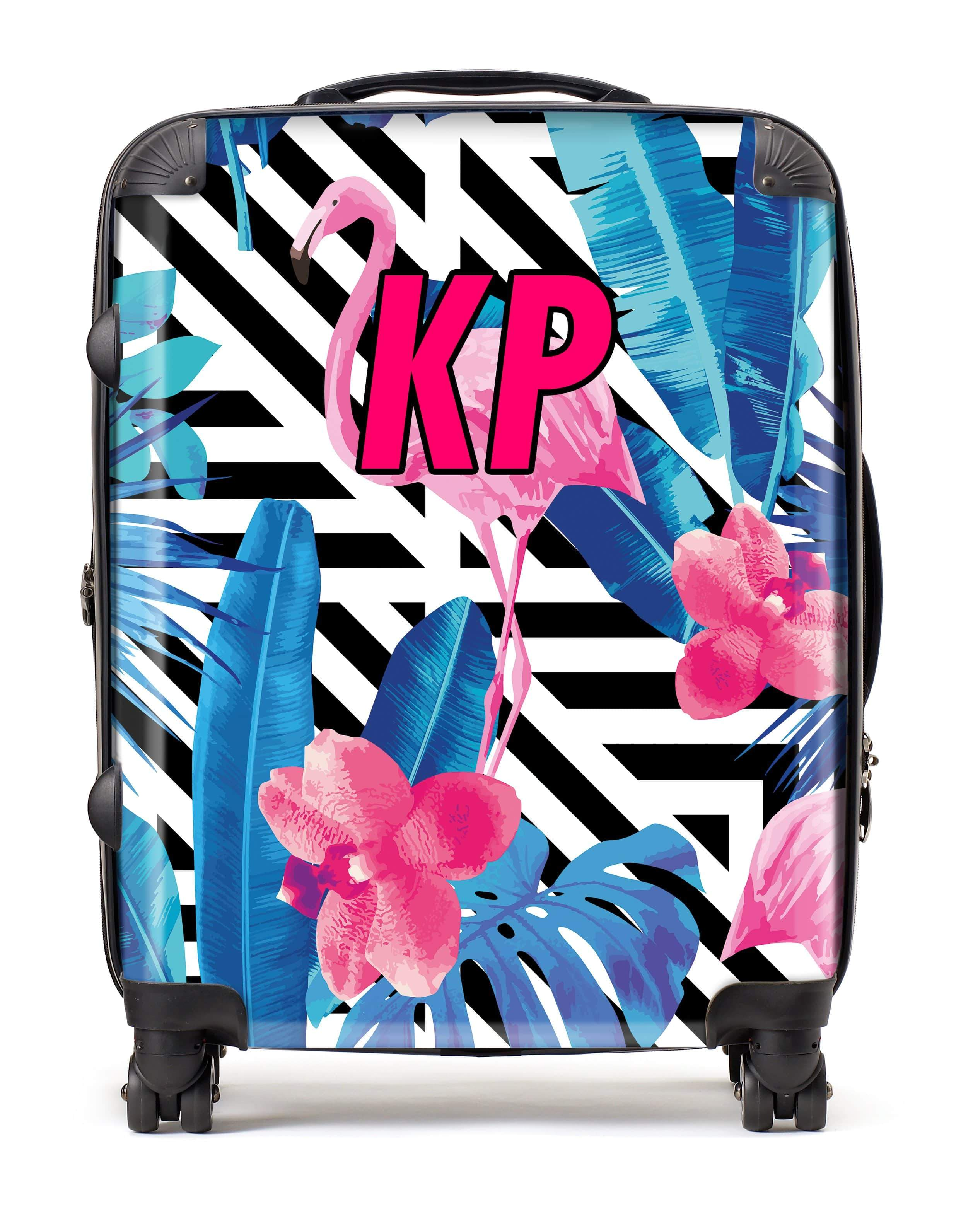 Adorn Jungle Flamingo Pattern Luggage AA0054