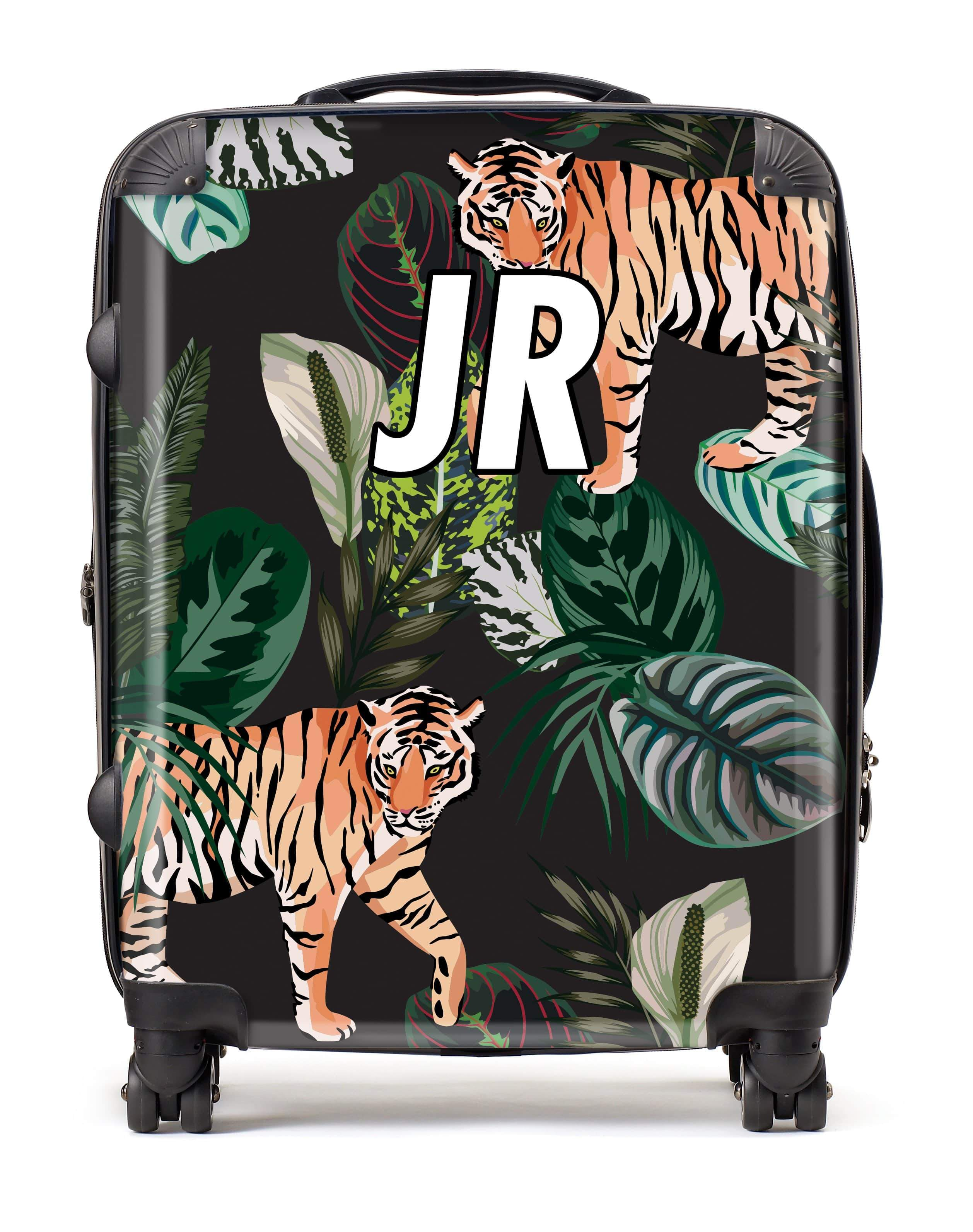 Adorn Jungle Tiger Pattern Luggage AA0055