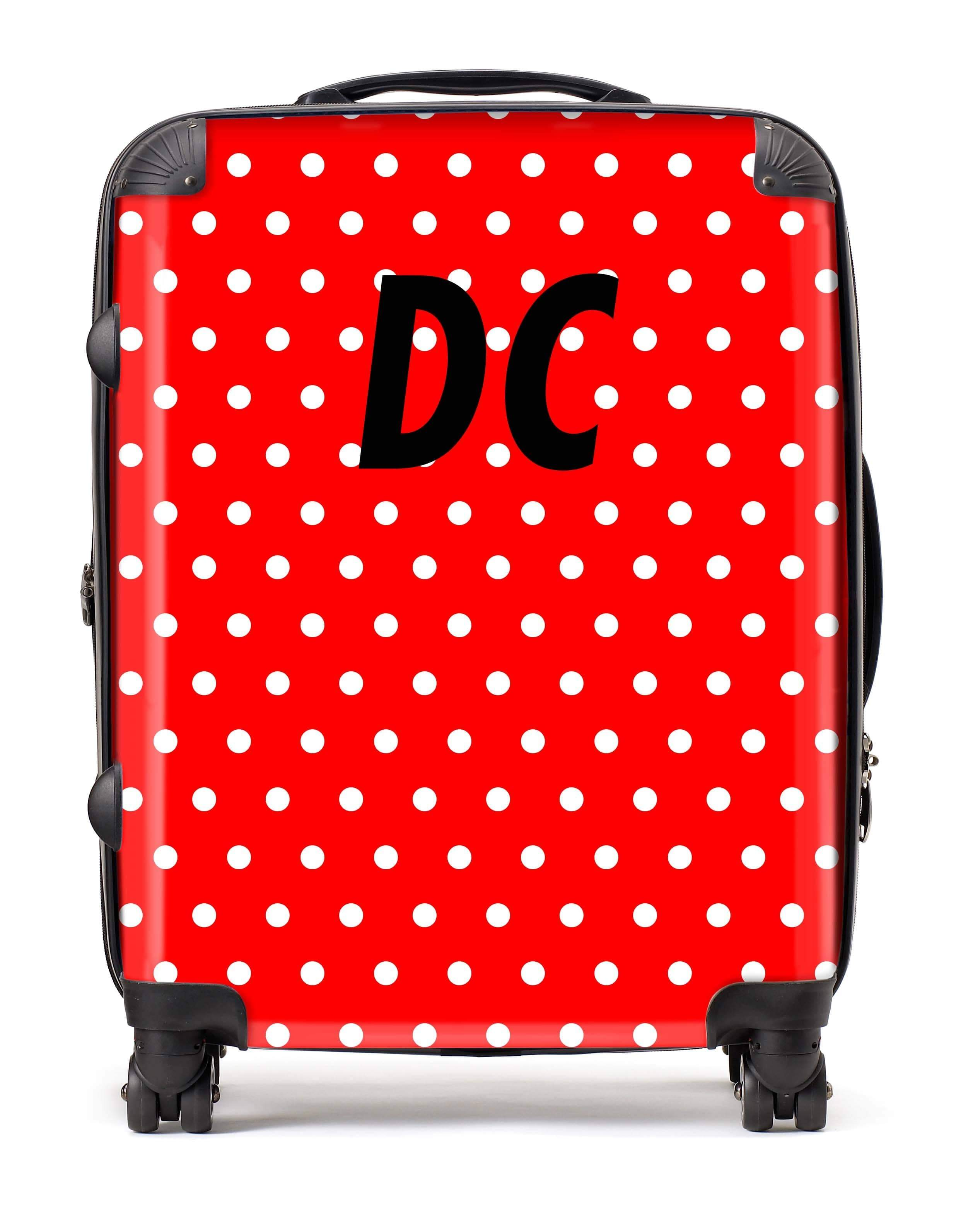 Adorn Polka Dot Luggage AA0018
