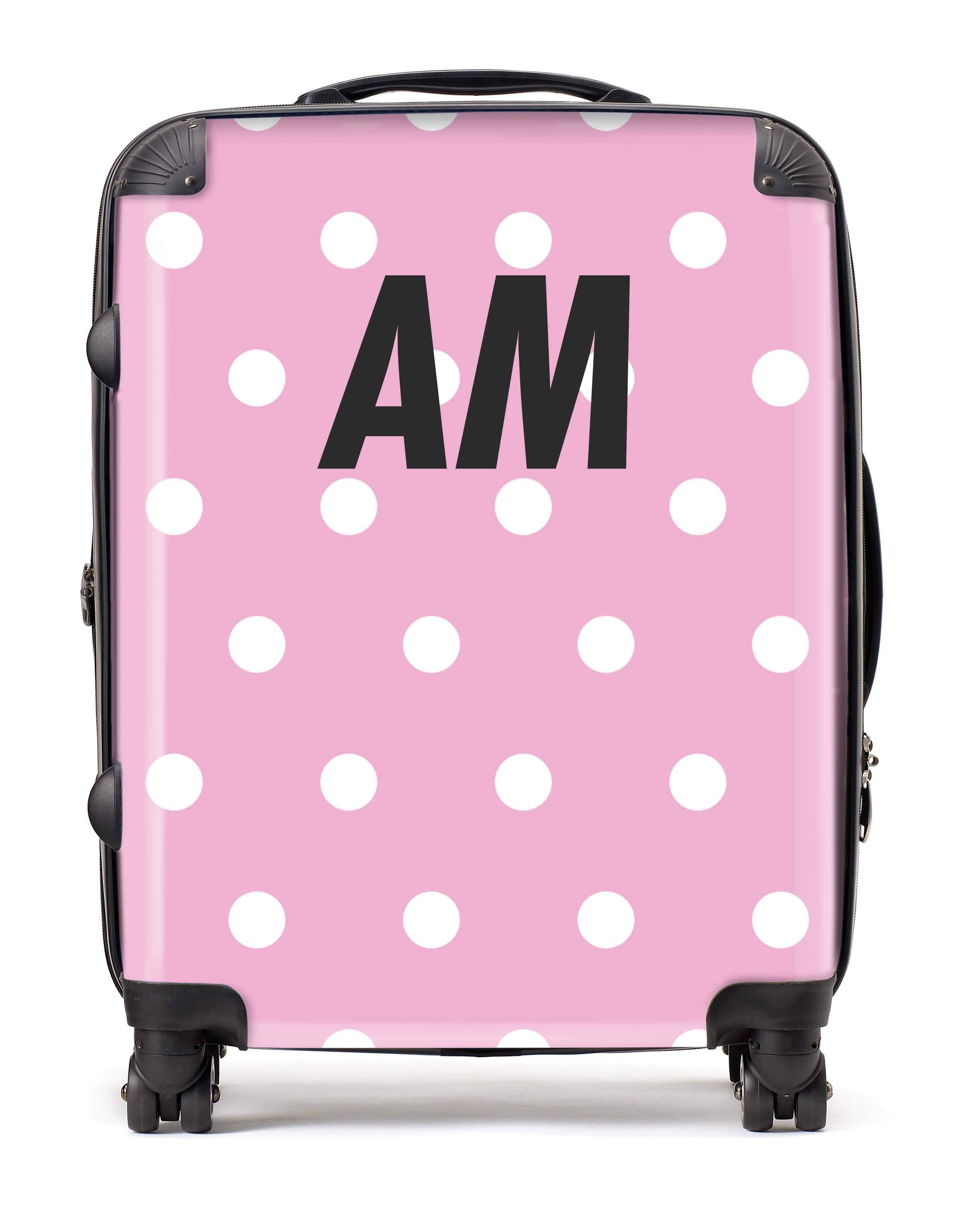 Adorn Polka Dot Luggage AA0019