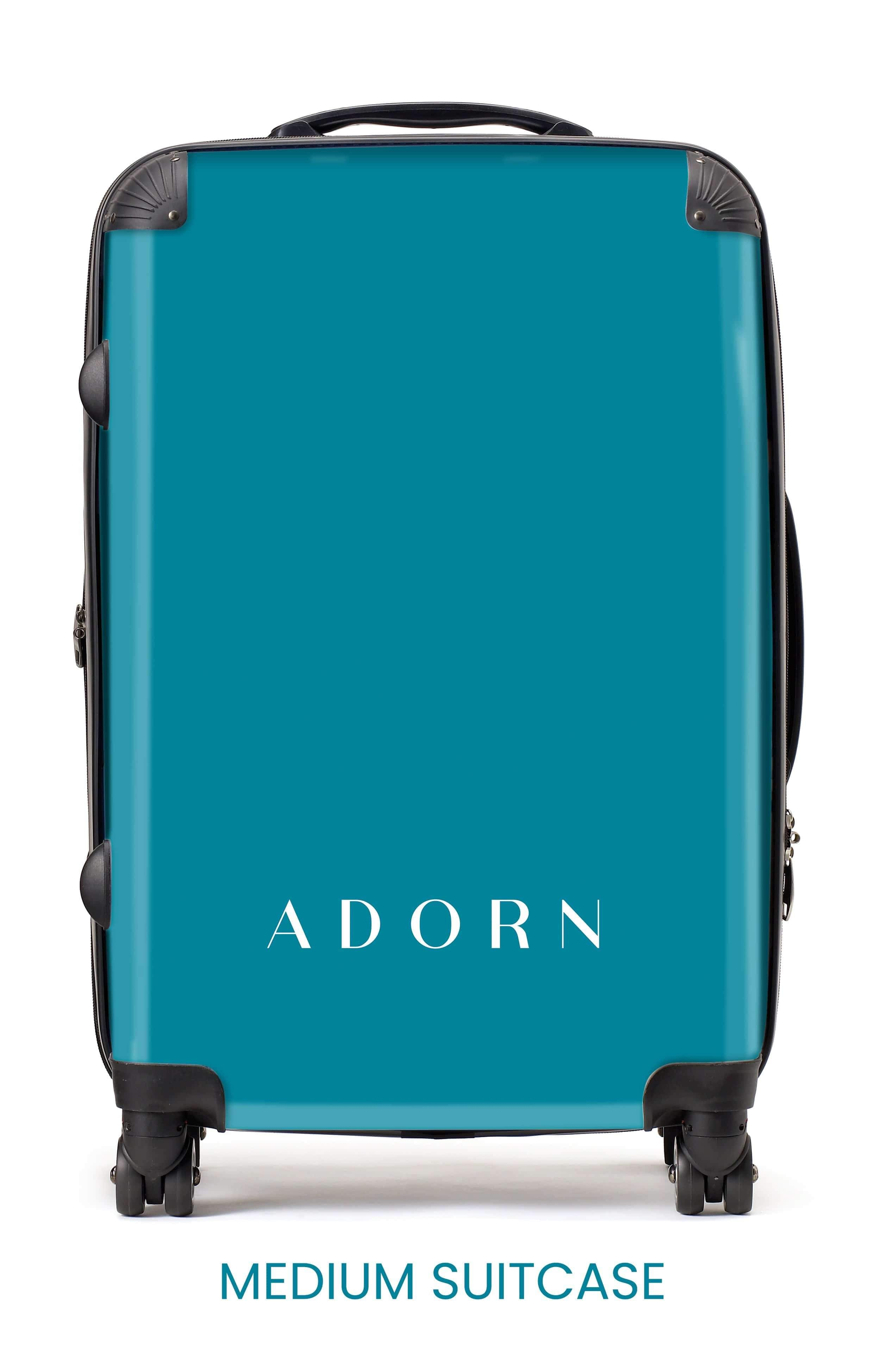 Adorn White Gold Marble Luggage AA0047