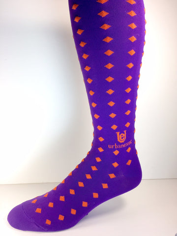 A Game Day Winner! Tiger Orange and Purple Men's OTC Socks