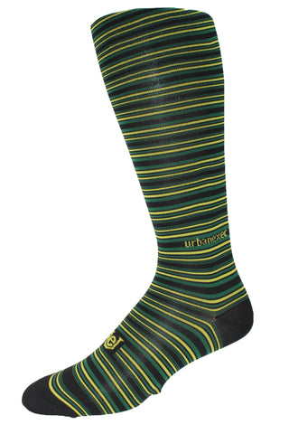 Performance ThinSkin Black Stripes with Green and Gold GameDay