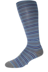Performance ThinSkin Gray Stripes with Ink Blue and Seafoam