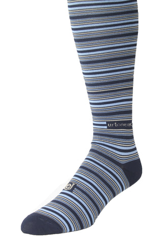 Performance ThinSkin Navy Stripes with Sky Blue and Khaki