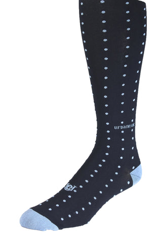 Performance ThinSkin Navy with Light Blue Pin Dots