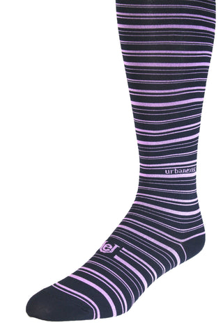 Performance ThinSkin Navy Stripes with Lavender