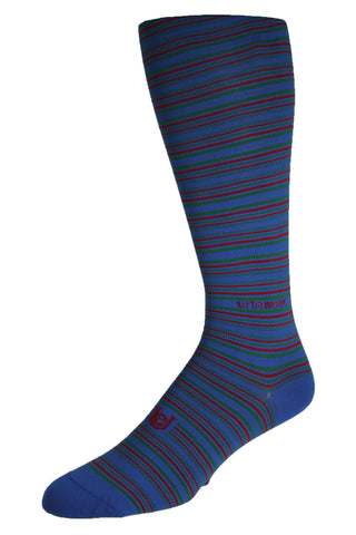 Performance ThinSkin Ink Blue Stripes with Berry and Green