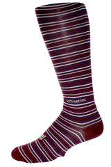 Performance ThinSkin Stripes in Maroon with Gray and Navy