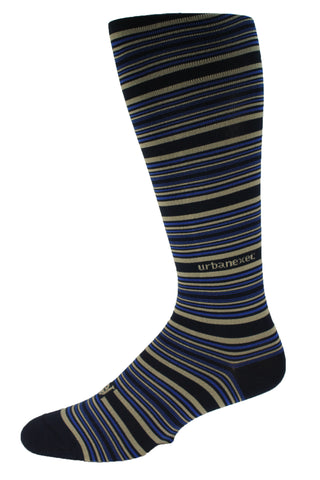 A Favorite Best Seller! Performance ThinSkin Navy Stripes with Royal Blue and Khaki
