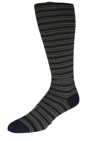 Performance ThinSkin Navy Stripes with Khaki and Dark Green