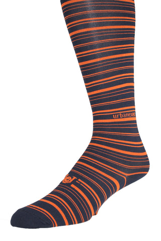 Performance ThinSkin Navy Stripes with Orange GameDay