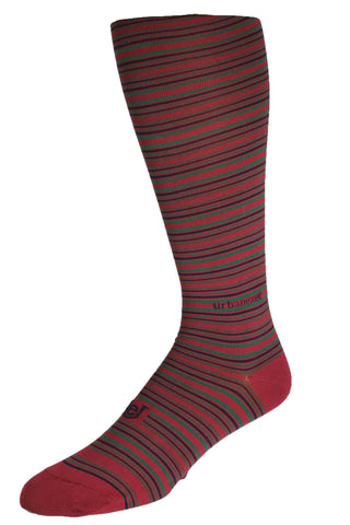 Performance ThinSkin Red Stripes with Navy and Green