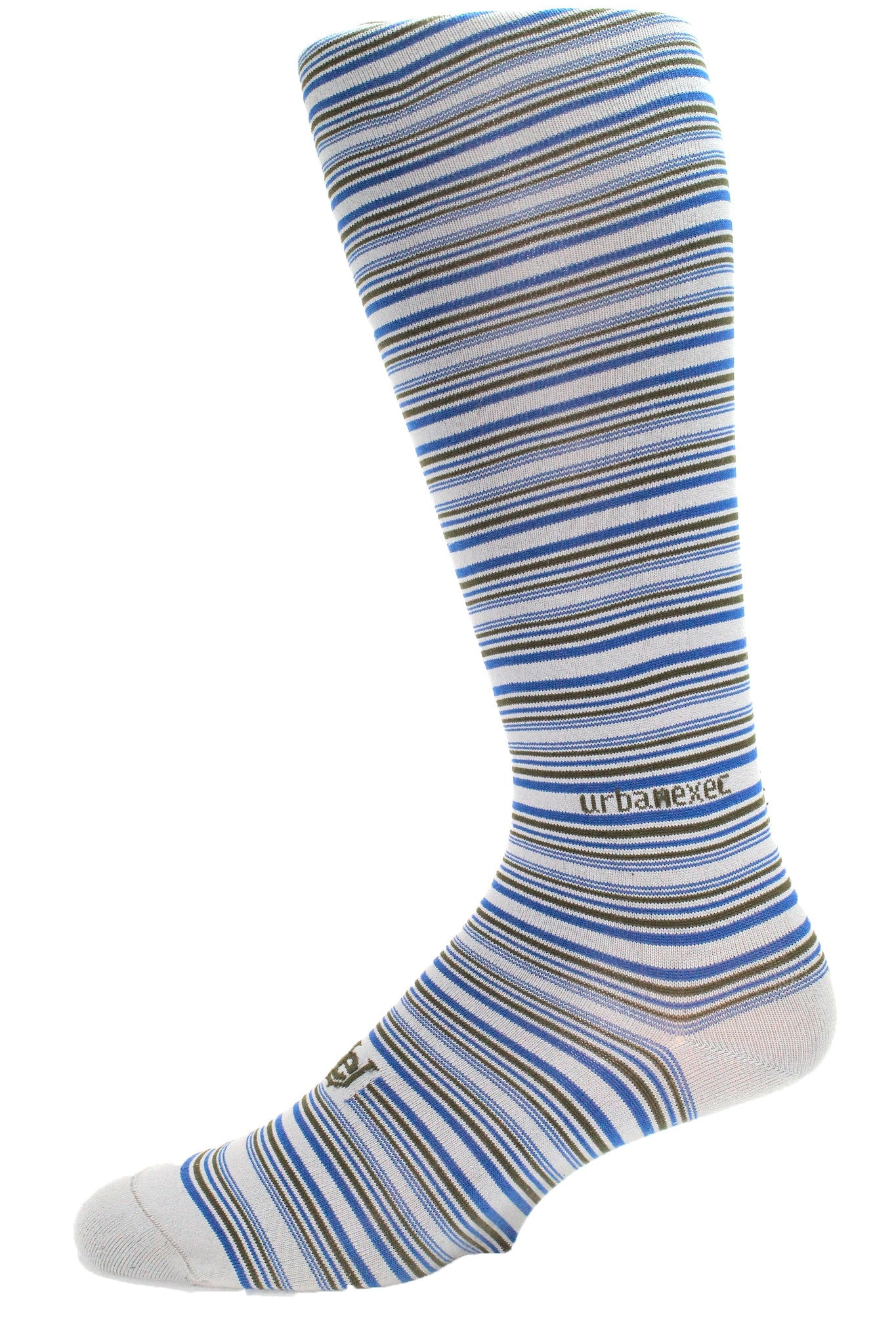 Performance ThinSkin Stripes Grey/Moss/Blue