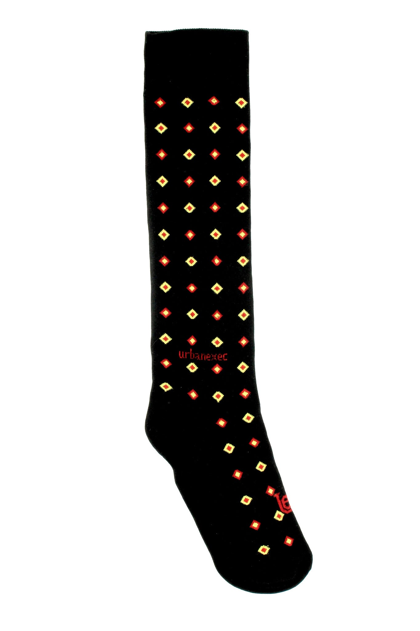 Men's Socks Double Diamond GameDay Black with Cardinal and Gold