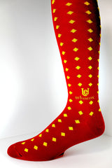 Men's Socks GameDay Luxury Blend Red/Gold