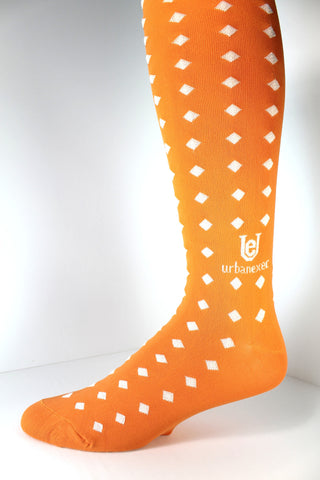 Men's Socks GameDay Collection Tennessee Orange with White Diamonds