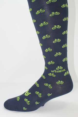 New Novelty Men's Colorful Socks in Performance ThinSkin with Bicycle Pattern OTC