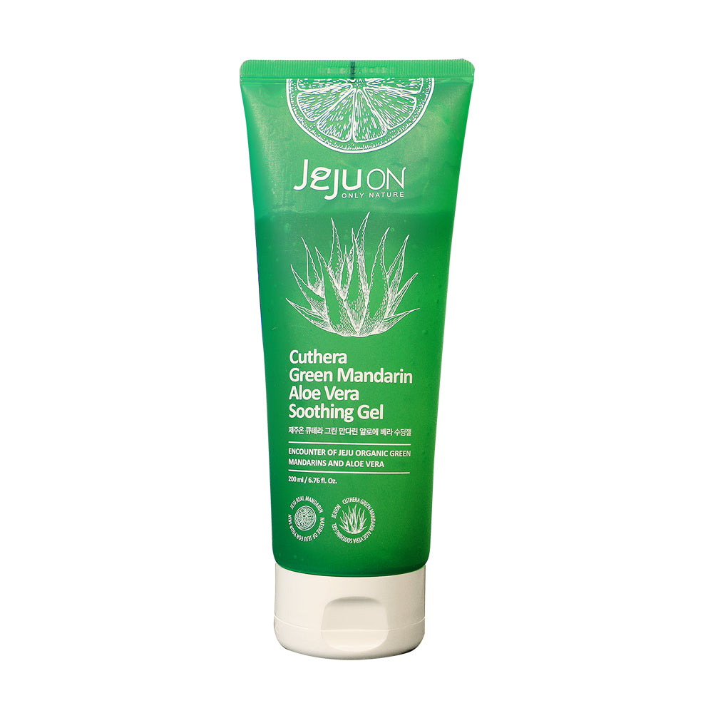 Jejuon Cuthera Green Mandarin Aloe Vera Soothing Gel 200ml-quick & Easy Care For Troubled Skin